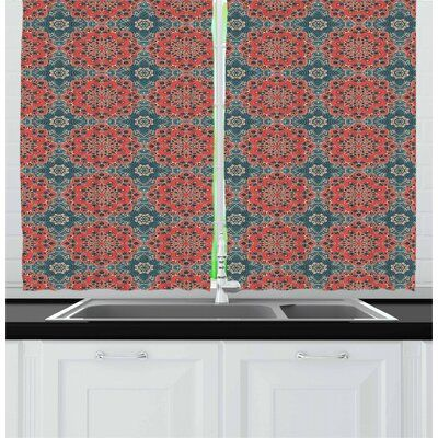 East Urban Home Mandala Kitchen Curtain In 2020 Curtain Decor