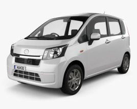 3d Model Of Daihatsu Move Custom Rs 2017 Daihatsu Model Car Engine