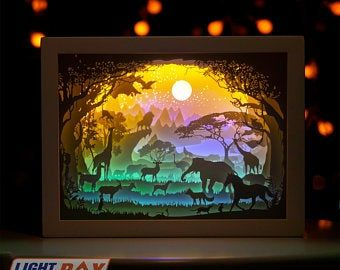Kids Gifts Papercut Light Box Led Light Birthday Valentine S Day Gifts In 2021 Box Template 3d Paper Paper Art