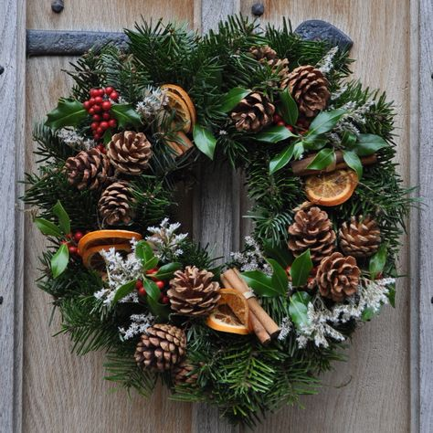 all natural wreaths | natural wreath from £ 25 the homemade natural wreath is decorated ...