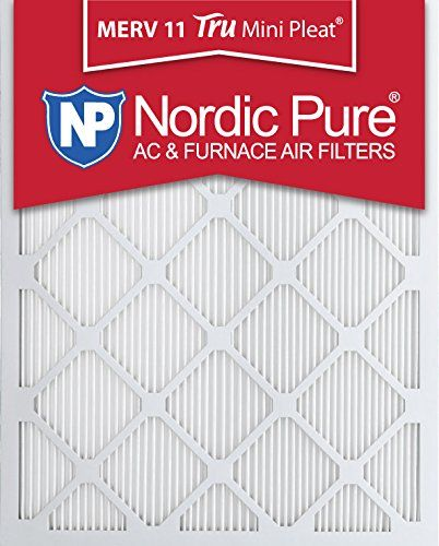 Nordic Pure 14x20x1 Merv 11 Tru Mini Pleat Ac Furnace Air Filters 12 Pack 14 Inch X 20 Inch X 1 Inch Ad Merv Ad Mini Ac Furnace Furnace Filters Furnace
