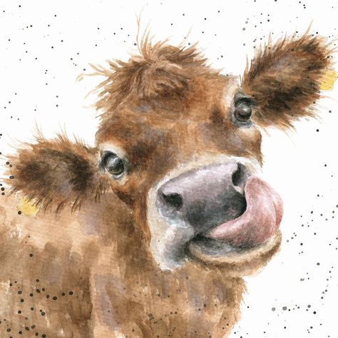 'Mooooo' Hannah Dale #watercolorarts