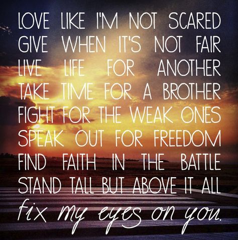 Image result for Fix My Eyes by For King and Country lyrics