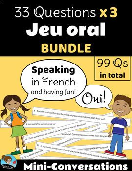 33 Questions: BUNDLE - Mini-Conversations Game *FRENCH