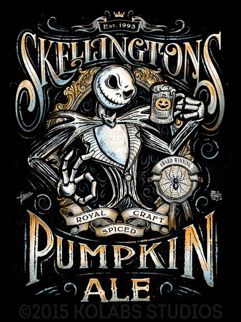 Skellingtons Pumpkin Ale Inspired Halloween von barrettbiggers