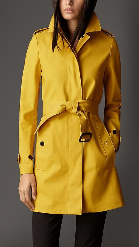 Burberry Mid-Length Bonded Cotton Trench Coat