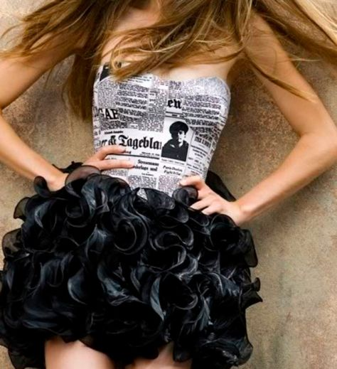 Paper dresses are creatively made from recycled papers or news papers. Newspaper Dresses fashion is pretty trendy these days.Fashion shows are full of these cool Dresses which are creatively designed by designers.You can easily diy paper clothes too .
