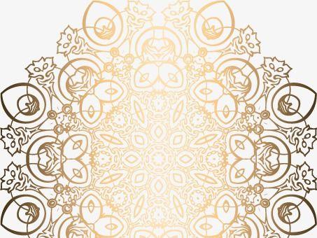 الرجعية نمط الذهبي فاخر نمط الخلفية Decor Vector Pattern Home Decor