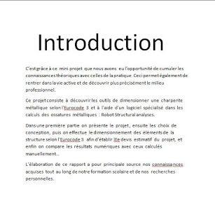 exemple d'introduction rapport de stage, exemple d