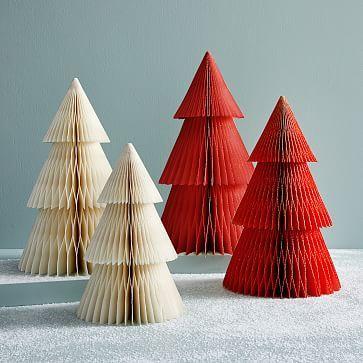 Accordion Paper Trees Paper Tree Traditional Christmas Tree Modern Christmas Decor