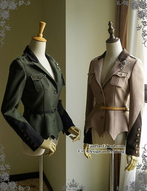 Steel Rose, Military Lolita Steampunk Long Sleeves Uniform Jacket*FREE EXPRESS SHIPPING by Fanplusfriend