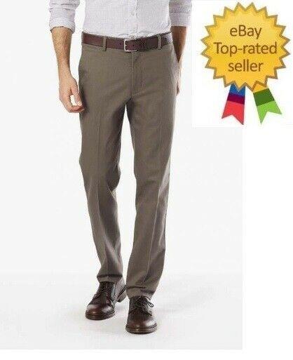 Size 36x32 Mens Classic Fit Flat Front Croft /& Barrow Corduroy Pants Khaki