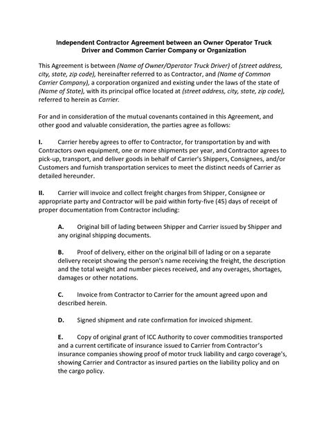 9-Step Guide to Creating a Freelance and Business-to-Business - owner operator lease agreement sample
