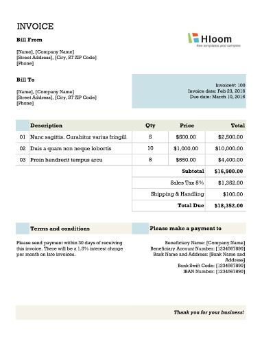 Banner Blocks Excel Invoice Template Invoice Templates Pinterest - excel templates invoice