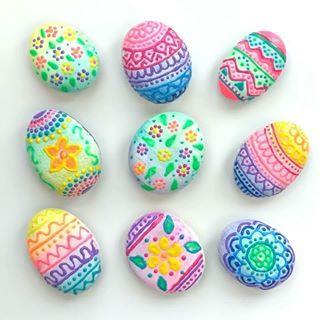 Seashell Painting, Pebble Painting, Diy Painting, Painting Eggs, Stone Painting, Puffy Paint Designs, Rock Painting Designs, Art Designs, Pintura Puff
