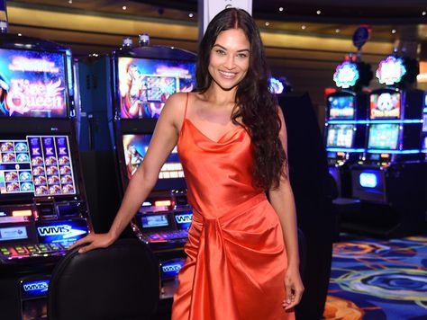 Model Shanina Shaik attends the HQ2 Opening Night at Ocean Resort Casino.