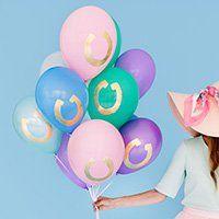 Diy Gold Horseshoe Balloons Balloons Diy Party Decorations