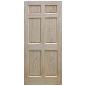 Evermark 30 In X 80 In Unfinished 6 Panel Solid Core Red Oak Interior Door Slab Jack S Bath Oak Interior Doors Interior Sliding Barn Doors Oak Doors