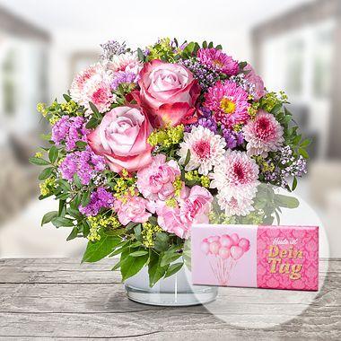 Blumenstrauss Schonheit Und Schokolade Dein Tag Lidl Blumen