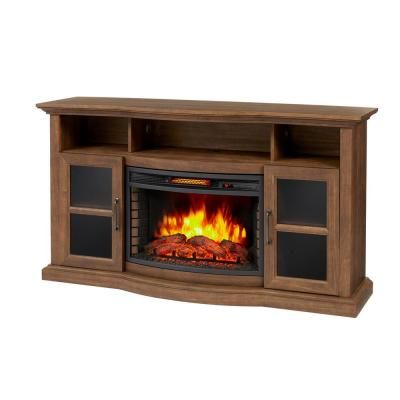 Home Decorators Collection Barden 59 In Freestanding Electric Fireplace Tv Stand In Antique Coffee 269 218 463 Y The Home Depot Fireplace Tv Stand Electric Fireplace Tv Stand Home Decorators Collection