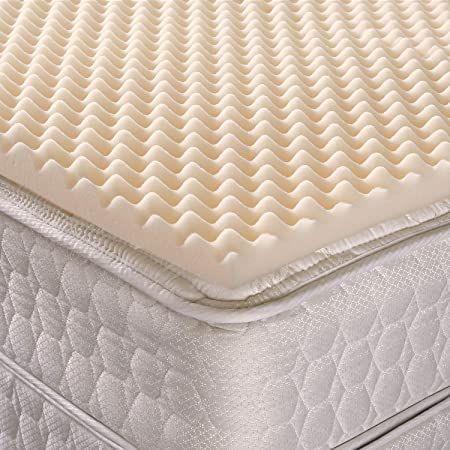 Geneva Healthcare Egg Crate Convoluted Foam Mattress Pad 4 Quot Standard California King S Foam Mattress Pad Cooling Memory Foam Mattress Cooling Mattress Pad