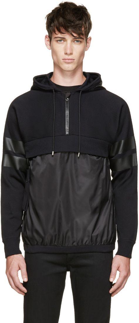 Givenchy Black Hybrid Hoodie