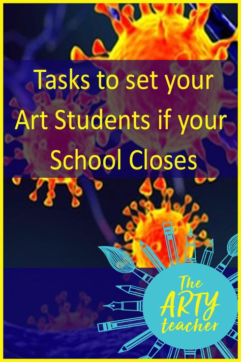 Tasks to set your Art Students if your School Closes