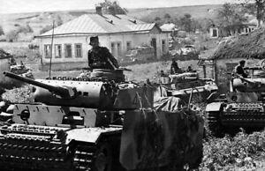 WWII B/&W Photo German Troops and Tiger Tank in russia  WW2 World War