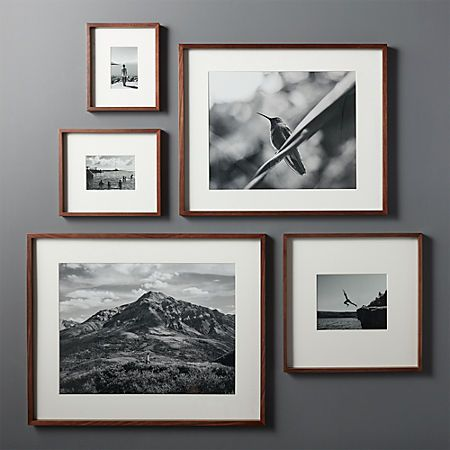 Gallery Walnut Frame With White Mat 4x6 Reviews Cb2 Picture Frame Gallery Picture Gallery Wall Picture Frame Wall