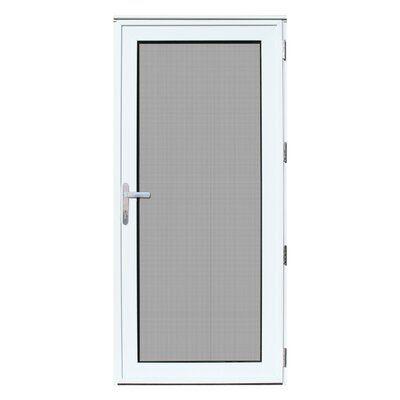 Titan Security Doors Mesthec Single Recessed Mount Ultimate Storm Door Door Size 80 H X 36 W X 2 31 D Door Handing Right Hand Outswing In 2020 Aluminum Storm Doors Security Storm