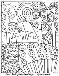 Bildergebnis Fur Malvorlagen Hundertwasser Umrisszeichnungen Kunststunden Zeichnungen Pinterest