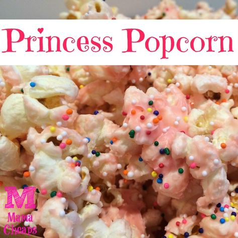 Princess Party Snack: Princess Popcorn (the perfect blend of salty and sweet!)