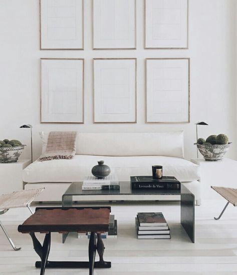 Wohnzimmer Einrichtung Interior Design In Den Farben Weiss Beige