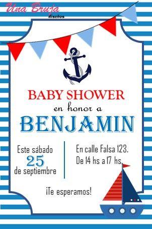 Invitación Baby Shower Marinero Para Descargar Editar E Imprimir Baby Shower Marinero Invitaciones Náuticas Cumpleaños Marinero
