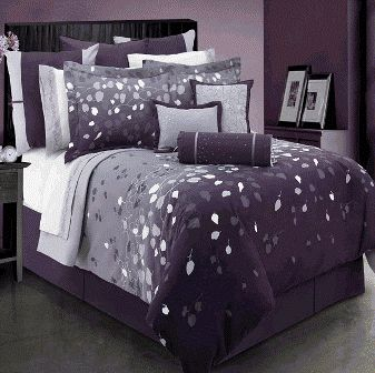 Black And White and purple Bedroom Ideas For Teens | grey and ...