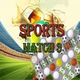 لعبة الادوات الرياضية ماتش ثري Sports Match 3 Deluxe Match 3 Tumblr Games Sports