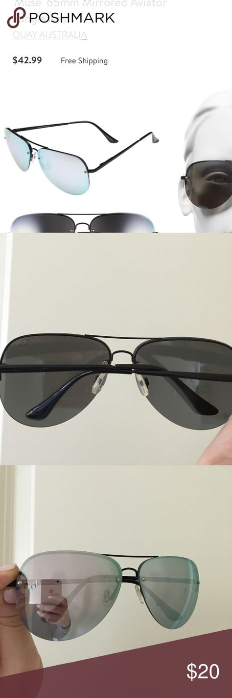 e9c09812b7 quay muse sunglasses Quay muse sunglasses! Mirrored blue! Great condition  lightly scratched as seen