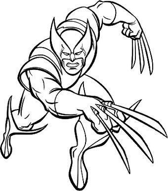 Desenho Para Colorir Wolverine Com Imagens Desenhos Desenhos