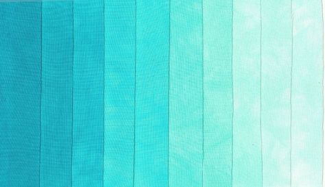 Turquoise shades for ombre