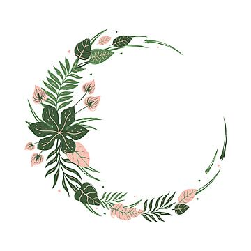 Round Frame Of Tropical Leaves And Flowers Tropical Leaf Frame Png And Vector With Transparent Background For Free Download Tropical Leaves Tropical Frames Round Frame