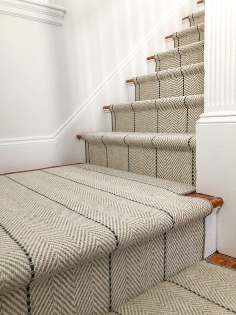 Home - Carpet Workroom Striped Stair Runner, House Inspiration, Staircase Design, New Homes, House, Home Projects, Hallway Designs, Home Decor, House Interior