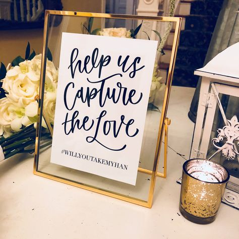 Excited to share this item from my #etsy shop: Wedding Sign Hashtag   Help Us Capture the Love   Simple