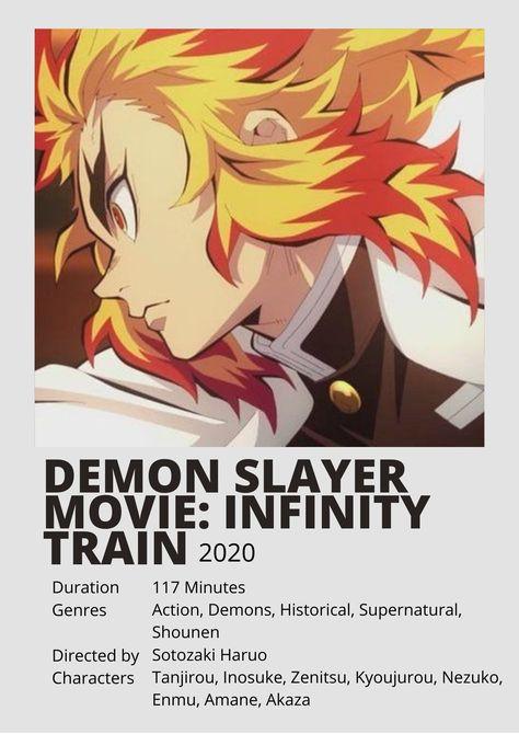 Demon Slayer: Infinity Train / Kimetsu no Yaiba Movie: Mugen Ressha-hen | Minimalist Polaroid Poster