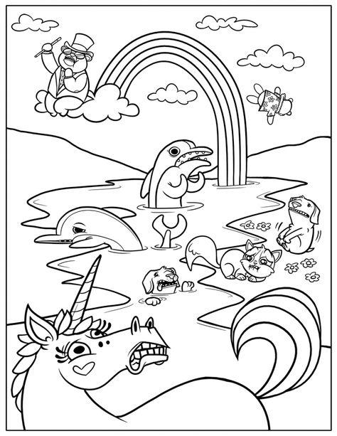ausmalbild regenbogen yakari  tiffanylovesbooks