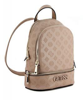 Skye Backpack Guess Latte Rucksack Gepragt Beige Altrosa Bags More Guess Taschen Guess Handtaschen Rucksack