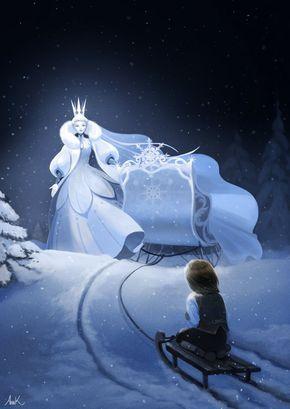 Hans Christian, Queen Art, Snow Queen, Winter, Illustration, Deviantart, Shiro, Anime, Oc