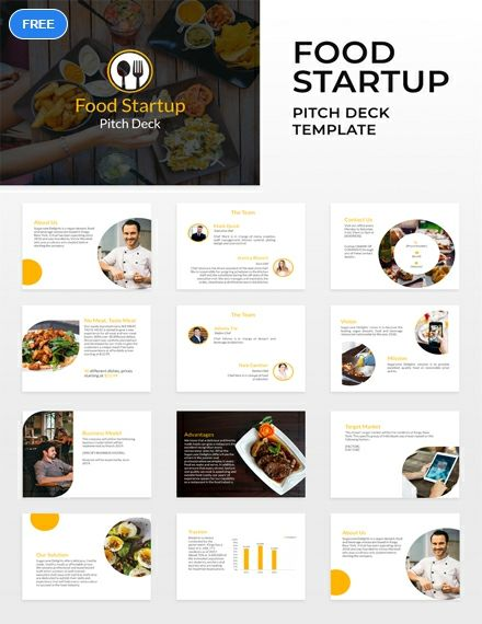 Free Food Startup Pitch Deck Template Powerpoint Apple Keynote Food Startup Start Up Free Food