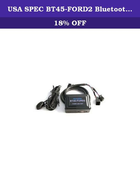 or Mercury vehicles with satellite radio Lincoln USA SPEC BT45-FORD2 Bluetooth Audio Interface for 2005-11 Ford