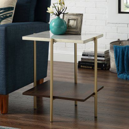 Manor Park Mid Century Modern Square Side Table Accent Decor