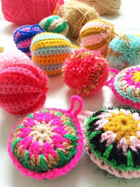 Christmas balls crochet - www.wimketolsma.nl DIY